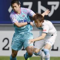 Lethal weapon: Sagan Tosu striker Yohei Toyoda (left) has scored 39 league goals in his last two seasons. | KYODO