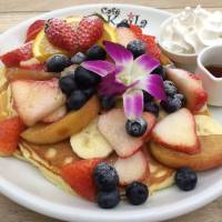 Pancakes with fresh fruit at Cafe Kaila in Omotesando. | REBECCA MILNER