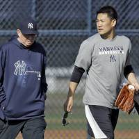 Tanaka begins training as a Yankee