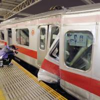 Railway operator Tokyu blames snow for train collision in Kawasaki