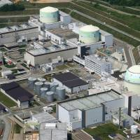 Hokkaido Electric Power Co.'s Tomari nuclear plant appears in a photo taken in June. | KYODO