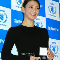 Helping others: Model Kurara Chibana faces reporters after being named the U.N. World Food Program's ambassador against hunger for Japan in Tokyo in December. | KYODO