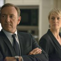 Net gain: Kevin Spacey and Robin Wright are seen this image from 'House of Cards.' | AP