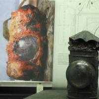 The H.L. Hunley's lantern is seen after conservation work in a lab in North Charleston, South Carolina, on April 19, 2012.   AP