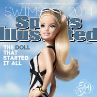Iconic figure: Barbie graces an advertising 'cover wrap' of Sports Illustrated's 50th anniversary annual swimsuit issue in this image supplied by the magazine Tuesday. | AP