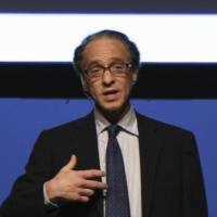 Ray Kurzweil gives a presentation at the UP Experience conference of thought leaders in 2008.  | ED SCHIPUL