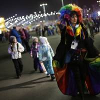 Gay-rights activist detained at Olympic Park