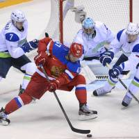 Russia does just enough to win hockey opener