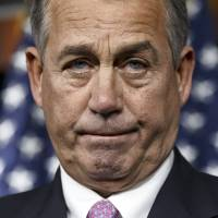No deal: House Speaker John Boehner pauses during a news conference Thursday on Capitol Hill, where he said it will be difficult to pass immigration legislation this year, dimming prospects for one of President Barack Obama's top domestic priorities. | AP