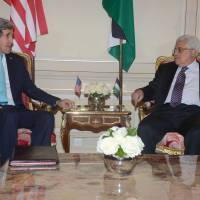 Kerry holds 'constructive' talks with Abbas in Paris