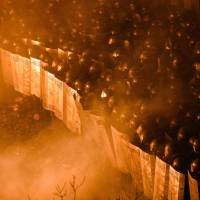 Clashes erupt as riot police storm Independence Square in Kiev on Tuesday. The bloodiest confrontations in three months of anti-government protests have turned the iconic square into a war zone. | AFP-JIJI