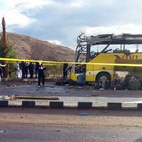 South Korea tourists killed in bombing of bus in Egypt's Sinai Peninsula