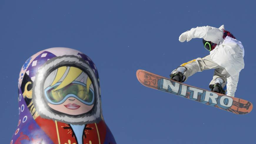 Big air: Sweden's Sven Thorgren competes in the men's snowboard slopestyle qualifying on Thursday.