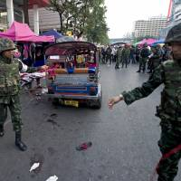 Bangkok blast kills two as fears over political violence swell