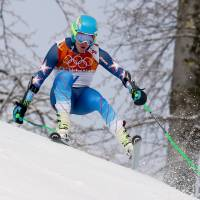 Moving forward: United States' Ted Ligety skis in the first run of the men's giant slalom in Krasnaya Polyana, Russia, on Wednesday. | AP
