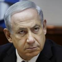 Unimpressed: Israel's Prime Minister Benjamin Netanyahu chairs the weekly cabinet meeting in Jerusalem on Sunday.AP/Gali Tibbon, Pool