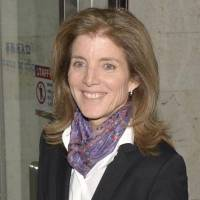 Goodwill tour: U.S. Ambassador to Japan Caroline Kennedy arrives Tuesday at Naha Airport in Okinawa. | KYODO
