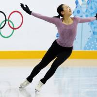 Proven competitor: Mao Asada took home the silver medal in the women's singles competition at the 2010 Vancouver Olympics. | KYODO