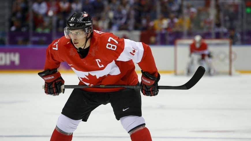 Leader of the pack: Captain Sidney Crosby guided Canada to an Olympic title in Russia.
