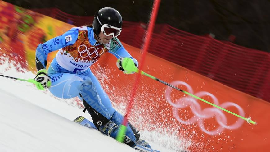 Banner performance: Slovenia's Tina Maze captured gold medals in the downhill (dead heat) and giant slalom in the Sochi Olympics.