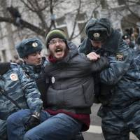 Russia convicts eight protesters over 2012 anti-Putin rally