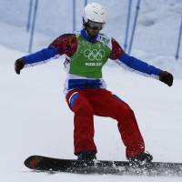 Vaultier overcomes the odds, becomes unlikely champion in snowboard cross race