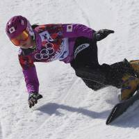 Only one better: Tomoka Takeuchi, competing in the women's snowboard parallel giant slalom competition at Rosa Khutor Extreme Park on Wednesday, earns the silver medal. | AP