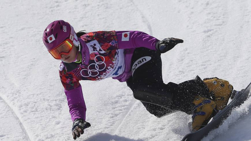 Only one better: Tomoka Takeuchi, competing in the women's snowboard parallel giant slalom competition at Rosa Khutor Extreme Park on Wednesday, earns the silver medal.