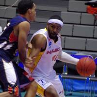 Team leader: Sendai All-Star forward Wendell White is a consummate competitor. | HANA SUZUKI