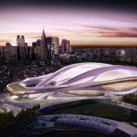 The build up to 2020: A computer-generated image of the original plan for a new Olympic Stadium in Tokyo. With so much construction ahead of the 2020 Tokyo Olympics, companies have asked for a change in immigration law to allow foreign workers to relieve the nation's shortage of blue-collar labor. | BLOOMBERG