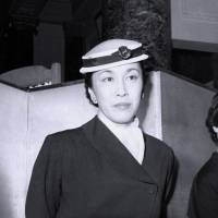 Masako Shirasu poses for a photo in 1954. | KYODO