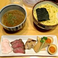 Kagari's top-of-the line tsukemen — tokusei-tsukesoba — comes with a variety of toppings.  | ROBBIE SWINNERTON