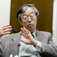 Dorian Nakamoto talks during an interview with The Associated Press in Los Angeles on Thursday. | AP