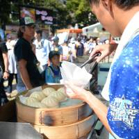 Cheap and tasty local food at Yokohama Stadium, home to the DeNA BayStars. | © YDB