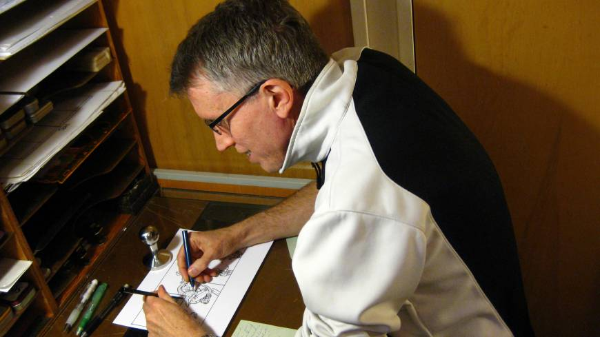 Returnee: Dahl at work at his home in Seattle, where he has lived since he left Japan in 1995.