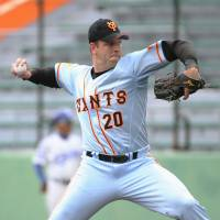 Give him the heater: Giants reliever Scott Mathieson says he feels good about his preparations for the 2014 season. | KYODO