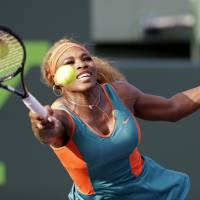 Serena survives tough first set to begin Sony Open with win