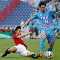 Flying start: Sagan Tosu striker Yohei Toyoda has scored three goals in two J. League games this season. | KYODO