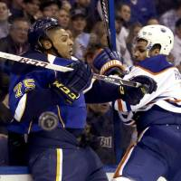 League-leading Blues defeat Oilers