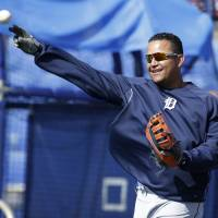 Money in the bank: The Tigers have agreed to pay infielder Miguel Cabrera $292 million over the next 10 years. | AP