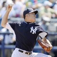 Tanaka escapes jams in third start of spring