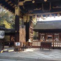 Toyotomi Shrine swallowed Hoko-ji Temple as a consequence of separation of Buddhism from Shinto in the opening days of the Meiji Period.   TED TAYLOR