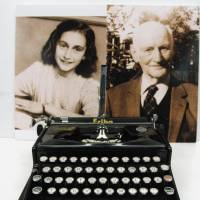This typewriter used by Anne Frank's father is one of the items to be put on a special display featuring Frank's life that will start March 15 at the Holocaust Education Center in Fukuyama, Hiroshima Prefecture. | KYODO