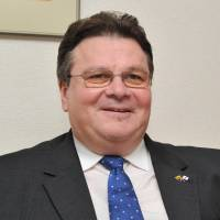 Lithuanian Foreign Minister Linas Linkevicius is interviewed in Tokyo on Thursday by The Japan Times. | YOSHIAKI MIURA