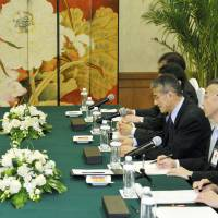 Japanese, North Korean envoys chat at Red Cross meeting
