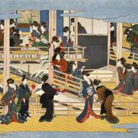 Ukiyo-e artist Kitagawa Utamaro's 'Fukagawa no Yuki' ('Snow in Fukagawa') will be exhibited at the Okada Museum of Art in Hakone, Kanagawa Prefecture, from April 4. | OKADA MUSEUM OF ART/KYODO