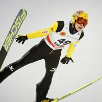 By leaps and bounds: Ski jumper Noriaki Kasai won silver and bronze medals during the Sochi Games and plans to continue his pursuit of Olympic gold. | KYODO