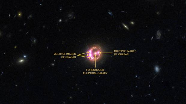 Faraway black hole spins at half the speed of light