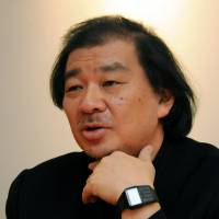 Architect Shigeru Ban speaks during an interview with The Japan Times in March 2013. | SATOKO KAWASAKI