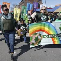 St. Patrick's Day festivities kick off in U.S., but tensions over gay rights linger